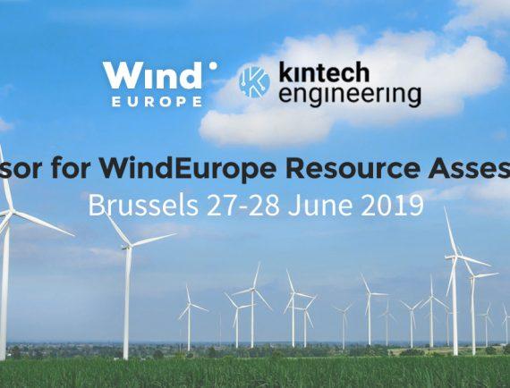Kintech Engineering patrocina el workshop de evaluación de recursos de WindEurope