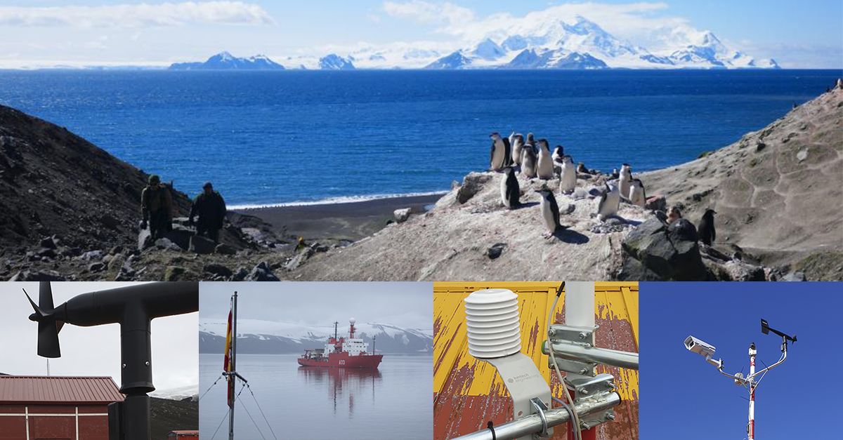 Data-logging and satellite communication to the Gabriel de Castilla scientific research center in Antarctica